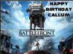 A4 Star Wars Battlefront Personalised Edible Icing or Wafer Birthday Cake Topper